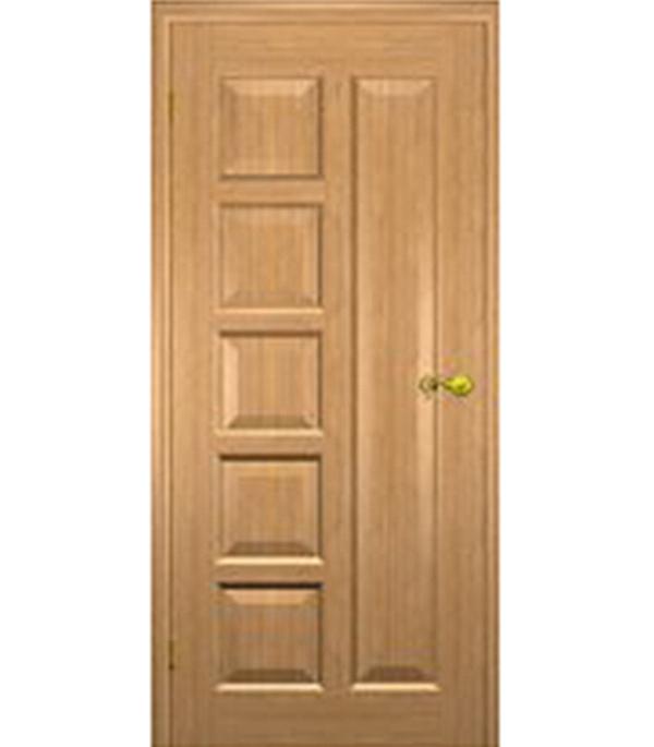 Дверное полотно  Иван-да-Марья шпонированное светлый дуб  700x2000 мм без притвора