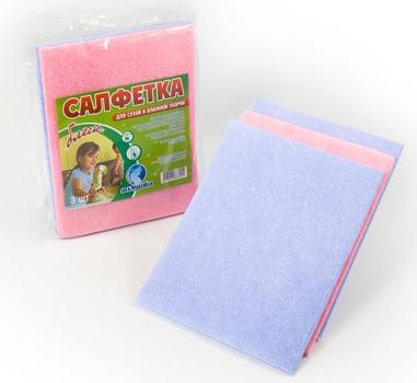 Салфетка для уборки 30х40 см, упаковка 3 шт