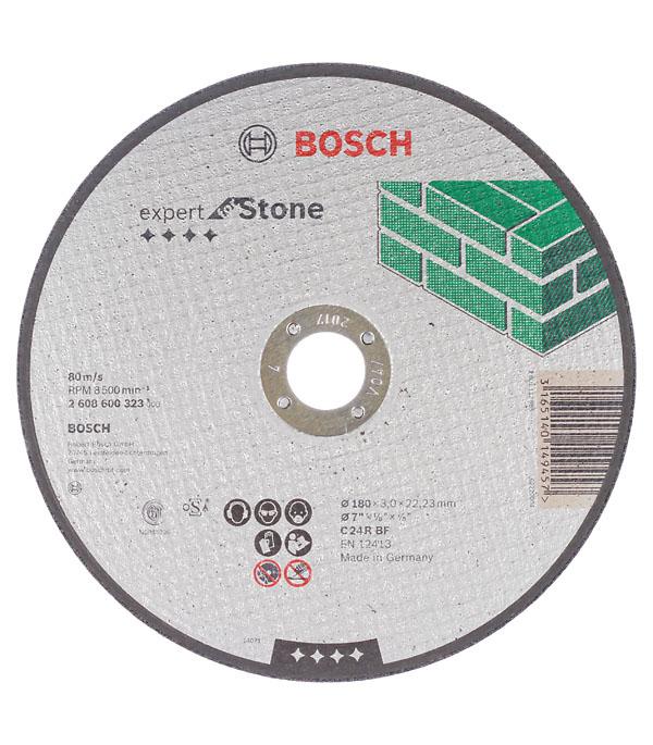 Круг отрезной по камню 180х22х3 мм Bosch Профи