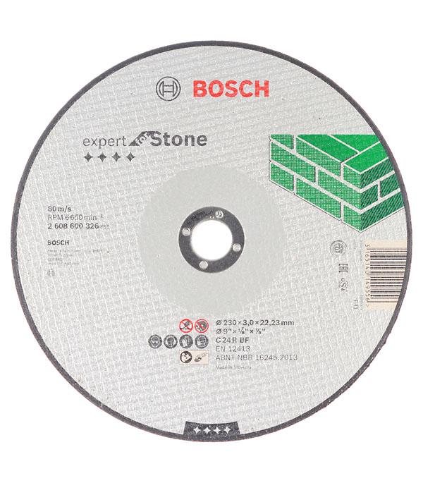 Круг отрезной по камню Bosch 230х22х3 мм круг отрезной bosch bosch 3 in 1 115x2 5x22 по нерж 2 608 602 388