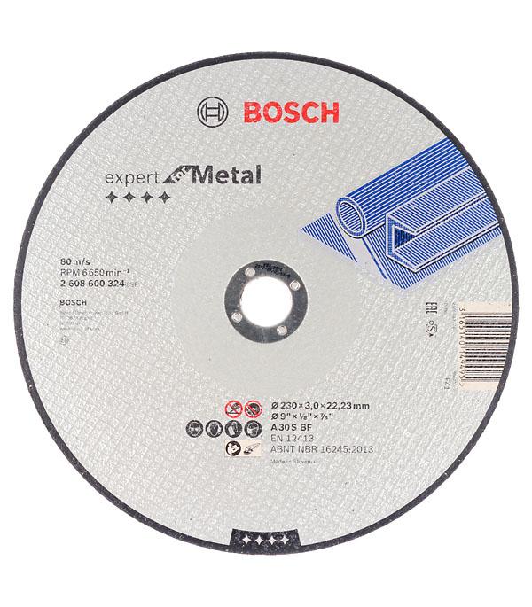 Круг отрезной по металлу Bosch 230х22х3 мм круг отрезной hammer flex 230 x 1 6 x 22 по металлу и нержавеющей стали 25шт