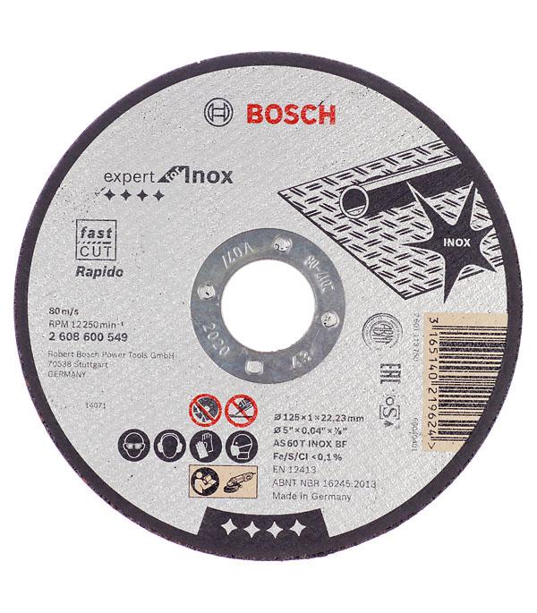 Круг отрезной по нержавеющей стали Bosch Inox 125х22х1 мм круг отрезной bosch bosch 3 in 1 115x2 5x22 по нерж 2 608 602 388