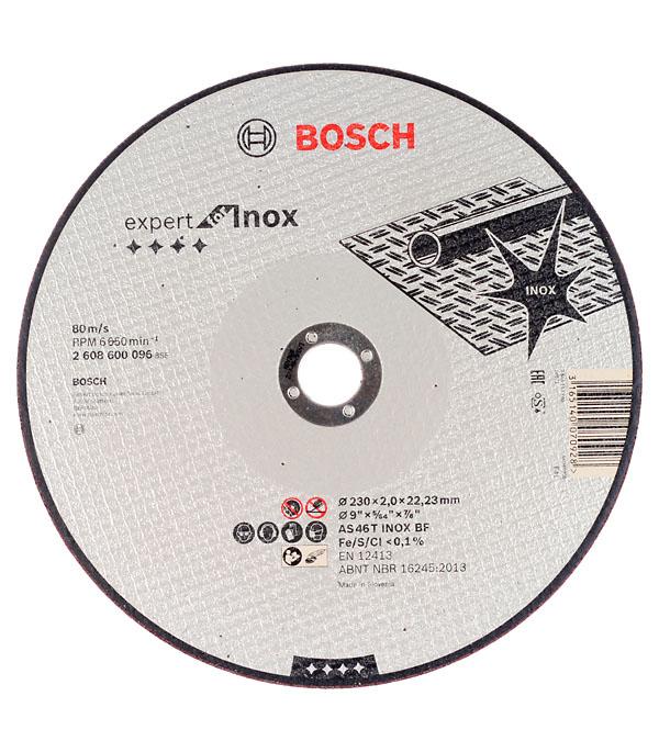 Круг отрезной по нержавеющей стали Bosch Inox 230х22х2 мм круг отрезной hammer flex 230 x 1 6 x 22 по металлу и нержавеющей стали 25шт