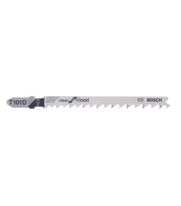 Пилки для лобзика по дереву для прямых пропилов Bosch T101D 10-45 мм (5 шт) пилки для лобзика по металлу для прямых пропилов t318bf 2 шт 2 5 6 мм стандарт