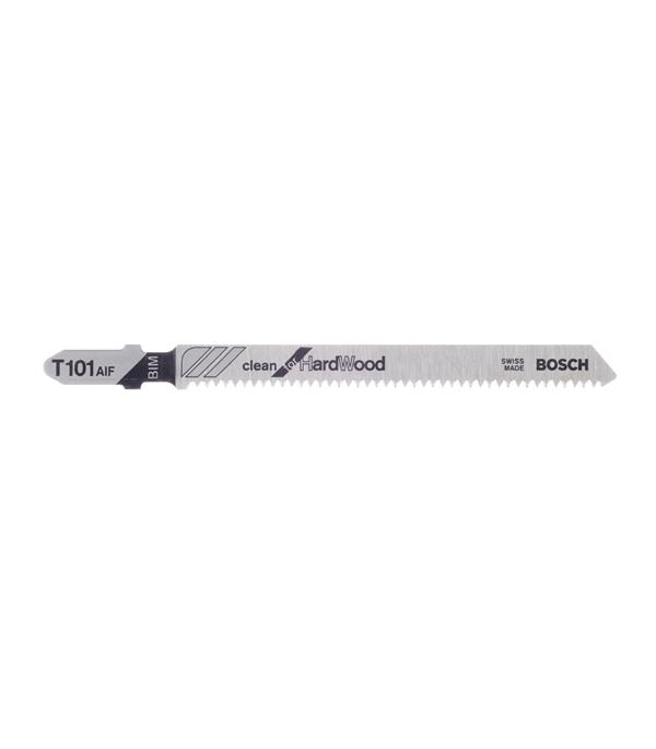 Пилки для лобзика по дереву для прямых пропилов Bosch T101AIF 2-30 мм (5 шт) пилки для лобзика по металлу для прямых пропилов t318bf 2 шт 2 5 6 мм стандарт