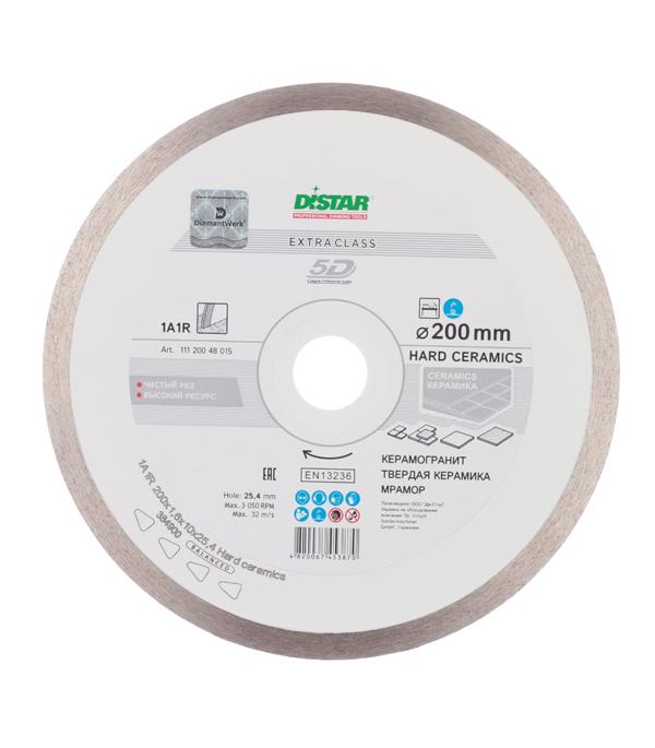 Диск алмазный сплошной по керамике 200x25.4 DI-STAR диск алмазный distar 1a1r 180x25мм hard ceramics