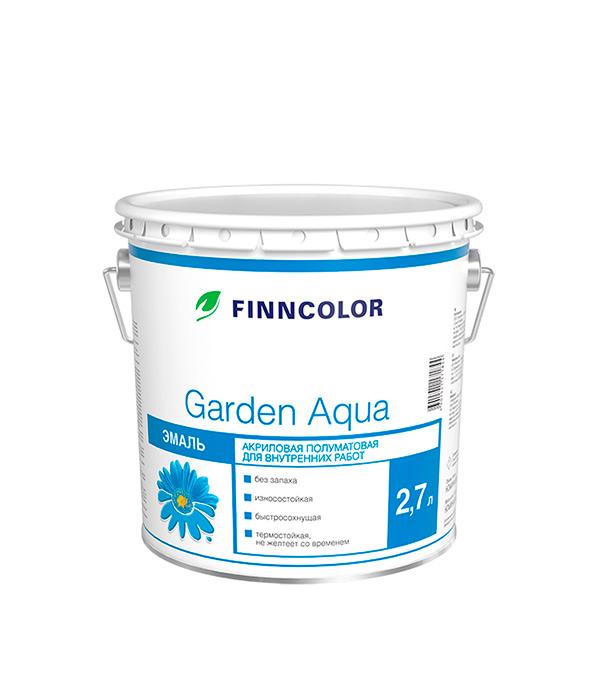 Эмаль акриловая Garden Aqua основа A полуматовая Финнколор 2,7 л моторное масло motul garden 4t 10w 30 2 л