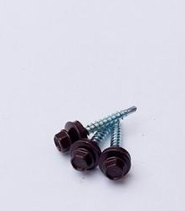 Саморезы кровельные с буром 19х5.5 мм коричневые RAL 8017 (250 шт) турбодефлектор era тд 160 окрашеный металл ral 8017 тд 160 8017