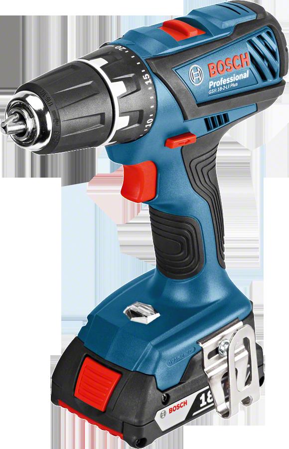 Дрель-шуруповерт аккумуляторная GSR 18-2-LI Plus 18 В, 2,0 Ач Li-Ion Bosch дрель аккумуляторная bosch gsr 10 8 2 li l boxx2 0 ач 0 601 868 109