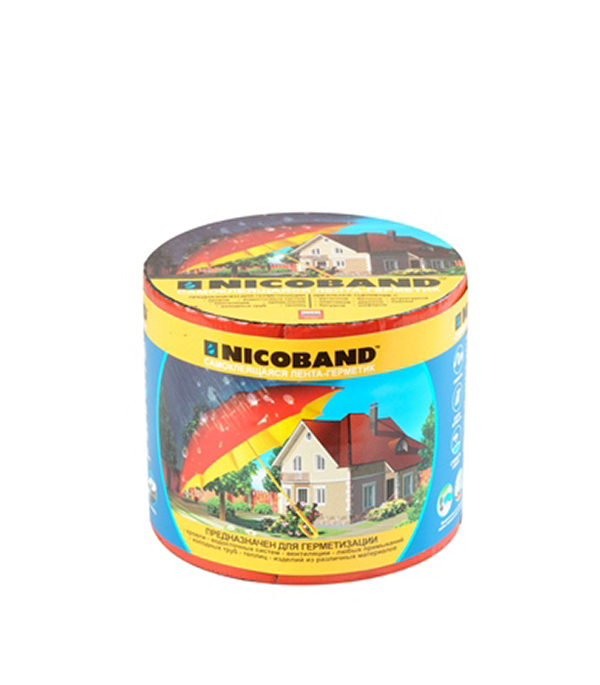 Лента гидроизоляционная Nicoband красный 3 м х 10 см