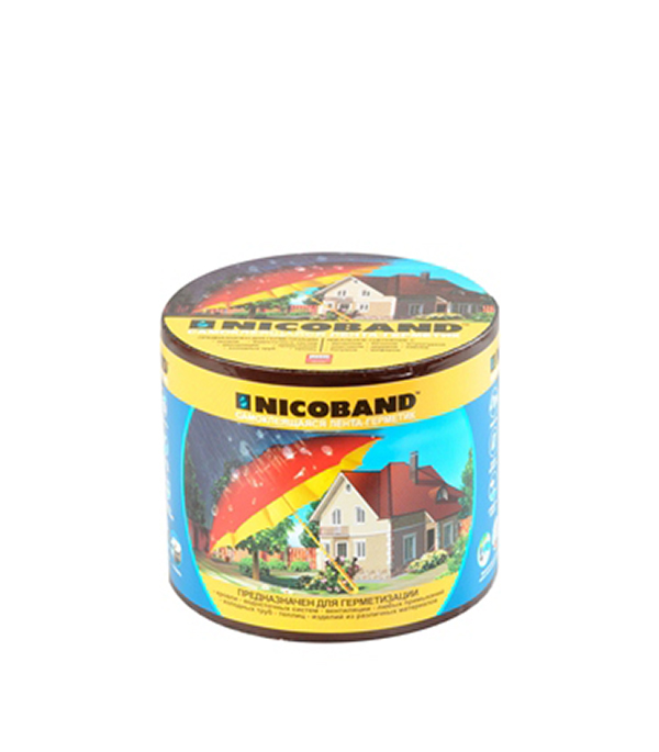 Гидроизоляционная лента Nicoband коричневый 3 м х 10 см
