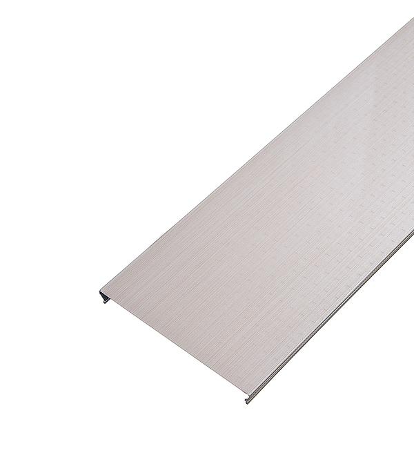 Рейка сплошная S-дизайн 150АS 3м бледно розовый штрих на белом