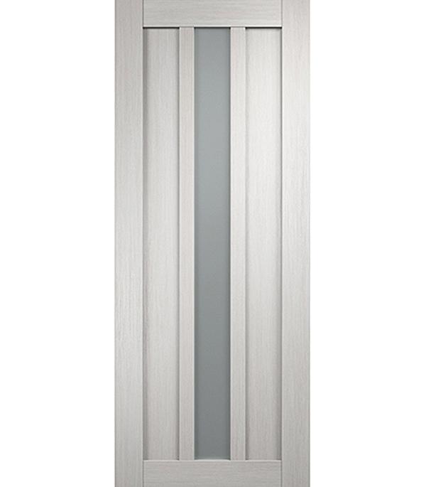 Дверное полотно экошпон Интери 3-1 З Белый дуб со стеклом 800х2000 мм без притвора дверная ручка банан где в санкт петербурге