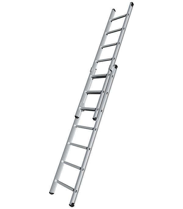 лестница тумба brauberg 2 ступени 43см серый 2 7кг Лестница Tikli 2-х секционнная 2х7