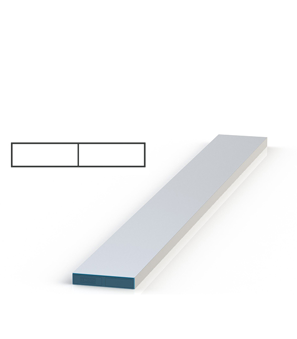 Правило алюминиевое 3 м (прямоугольник)