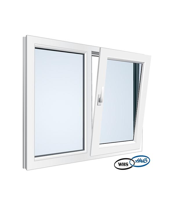 Окно металлопластиковое WHS 1160х1200 мм белое поворотно - откидное правое