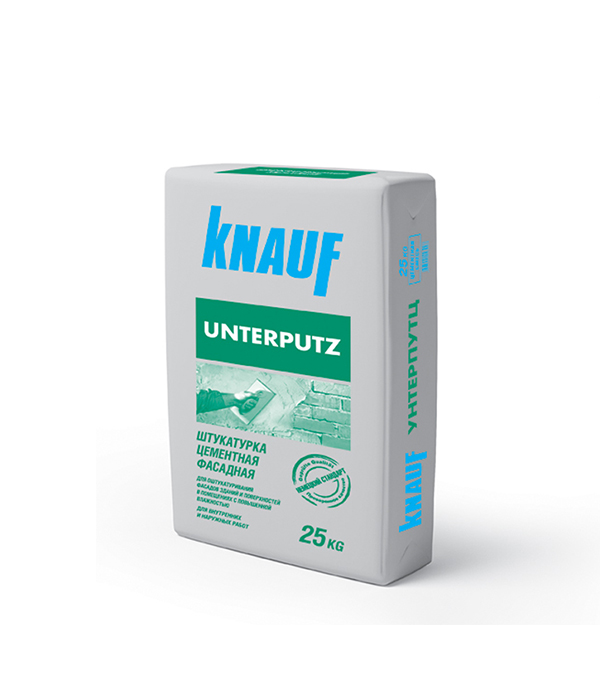 Штукатурка цементная фасадная Knauf Унтерпутц 25 кг штукатурка knauf унтерпутц цементная фасадная 25кг