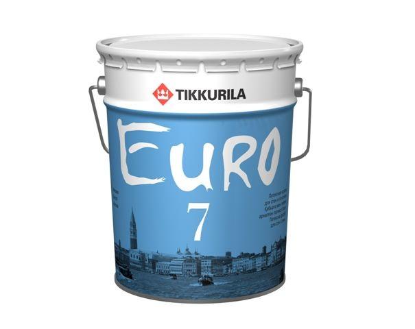 Краска в/д Euro 7 основа А матовая латексная Тиккурила 18 л