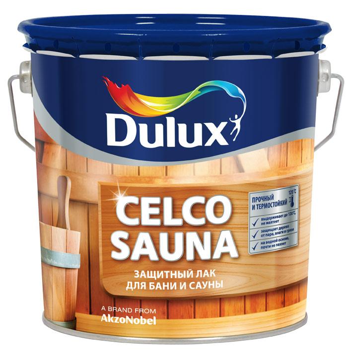 Лак водоразбавляемый Celco sauna Dulux 2,5 л