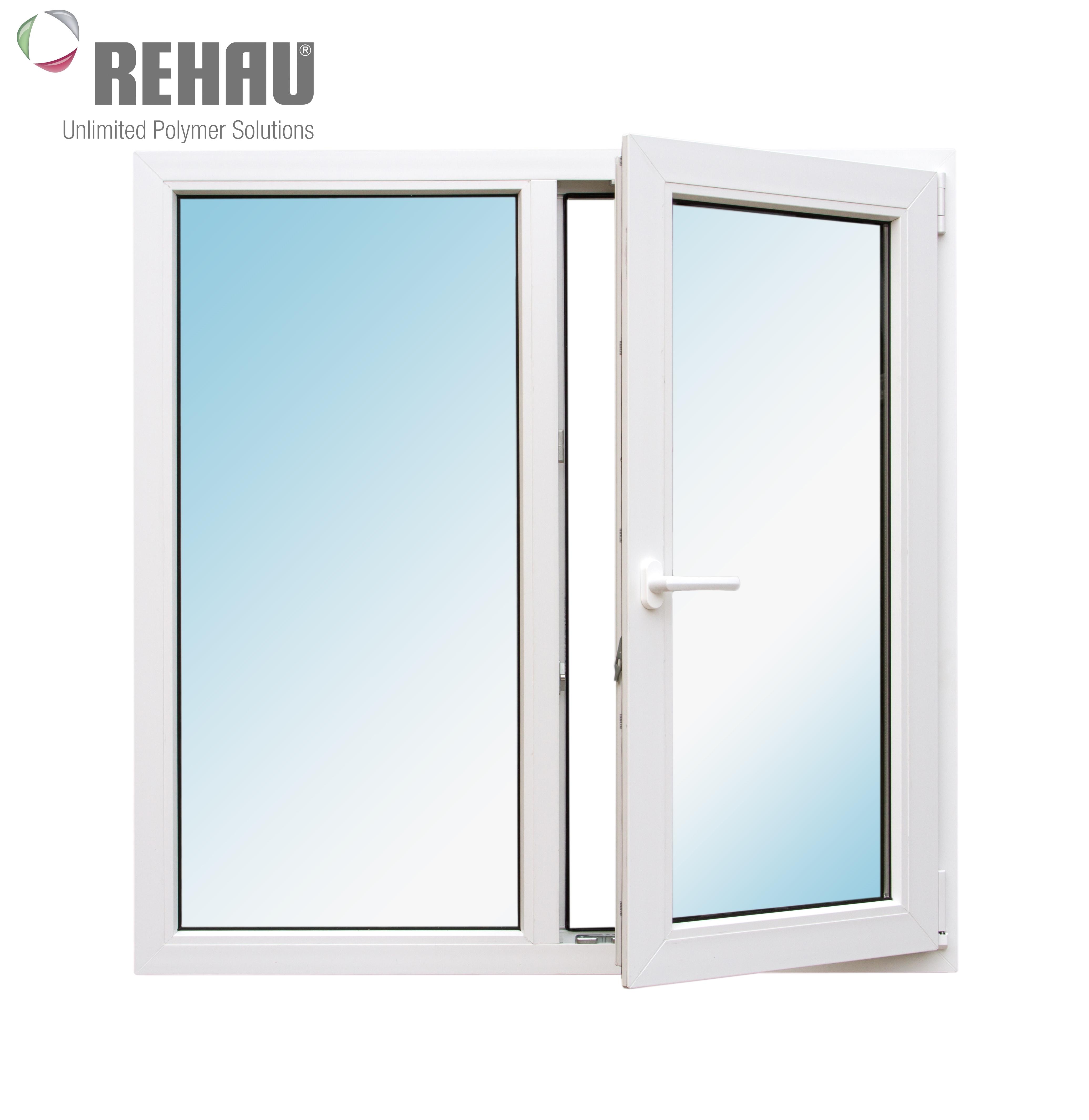 Окно металлопластиковое белое  Rehau Blitz 1200х1200 мм, поворотно-откидное правое