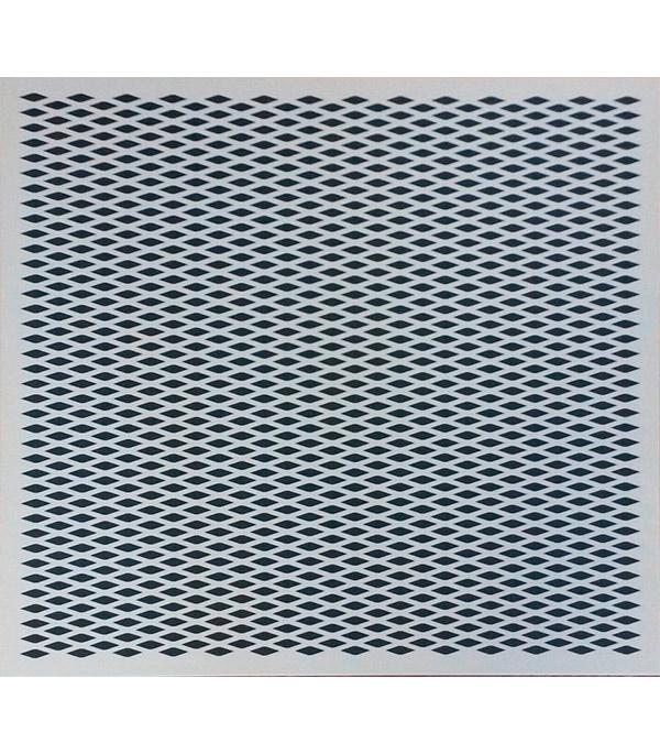 Плита к подвесному потолку кассетная Orcal (кромка Board)  600x600 алюм.белая перфорированная