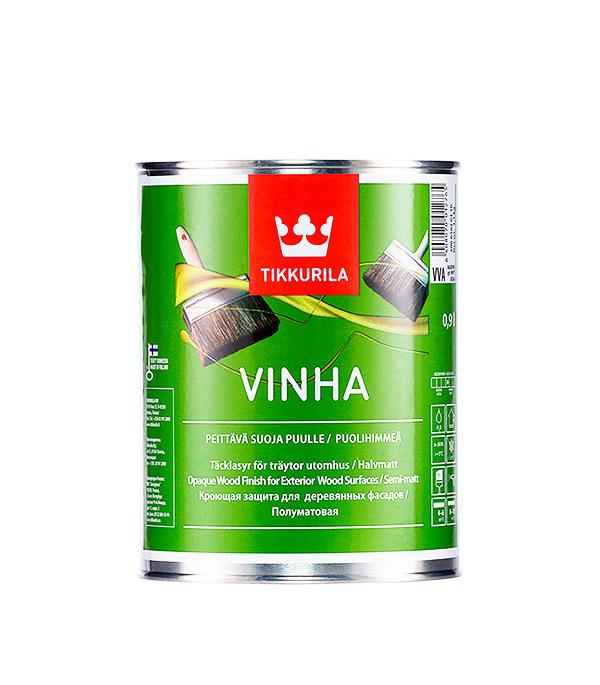 Антисептик кроющий Tikkurila Vinha основа VVA 0.9 л кроющий антисептик д дерева vinha vc 9 л