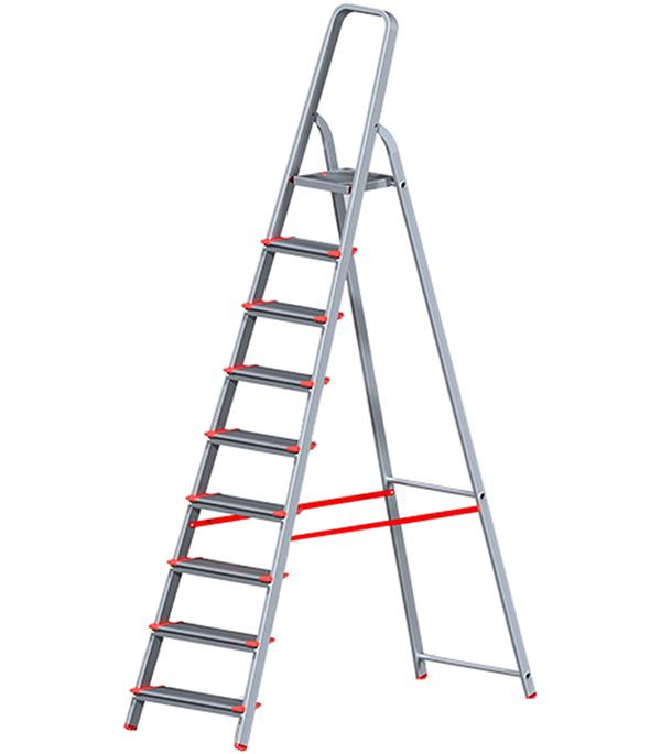 Стремянка Новая высота алюминиевая усиленная 9 ступеней стремянка новая высота nv 312 2x3 3120203