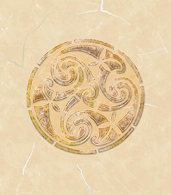 Плитка декор 200х300х7 мм Веста D1 бежевый с золотом