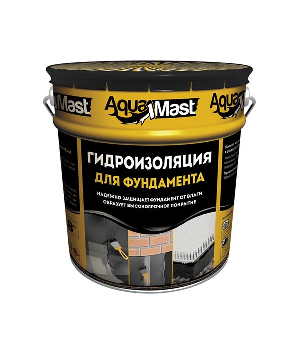 Мастика битумная Гидроизоляция для фундамента АкваМаст 18 кг гидроизоляция фундамента 1х10м