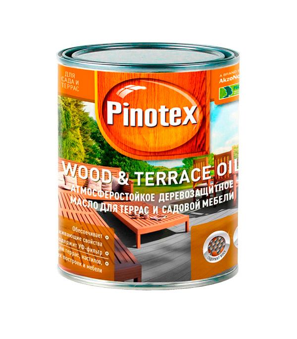Масло для террас Pinotex Wood&Terrace Oil бесцветное 1 л масло для террас alpina oel fuer terrassen 0 75 л
