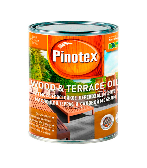 Масло для террас Пинотекс Wood&Terrace Oil б/цв 1 л