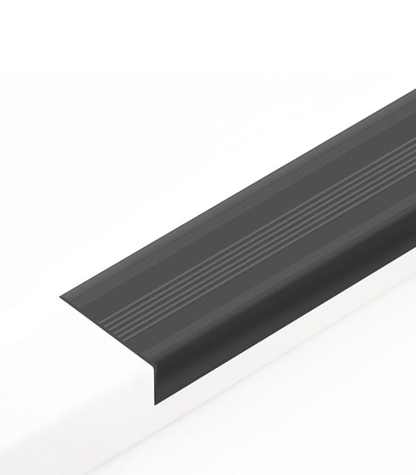 Угол антискользящий для ступеней 42х20х900 мм Черный