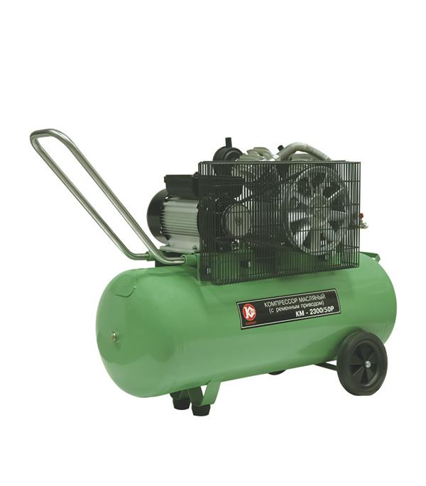 Компрессор масляный Калибр КМ-2300/ 50РУ переходник для компрессора jtc 1 2 быстросъемный штуцер елочка 10 мм jtc d40pha