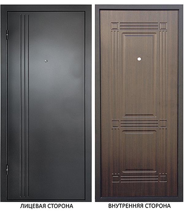 Дверь металлическая ДК Лайн 860x2050 мм левая, без цилиндра и ручки
