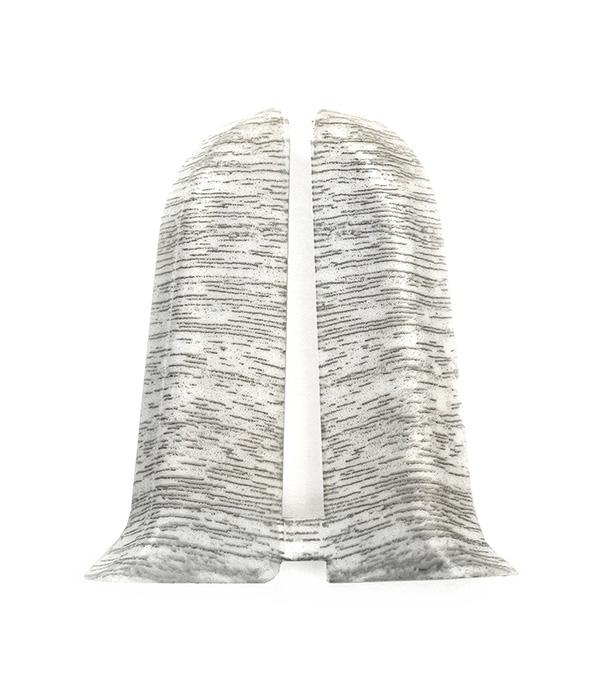 Заглушки торцевые (левая+правая) Ясень белый 55 мм