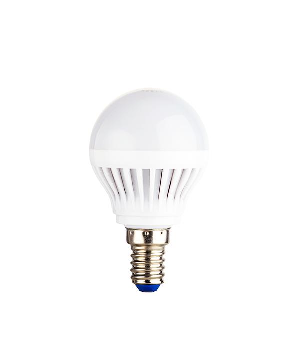 Лампа светодиодная E14 5W G45 2700K, теплый свет, REV лампочка rev led a55 e27 5w 2700k теплый свет 32344 0