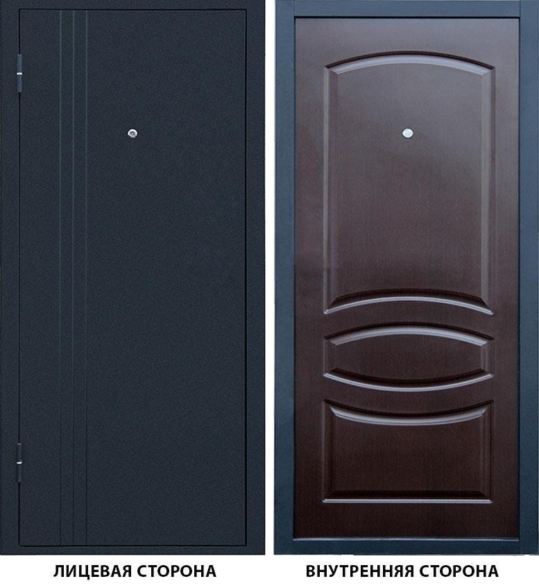 Дверь металлическая Бастион -1 960x2050 мм левая, без цилиндра и ручки