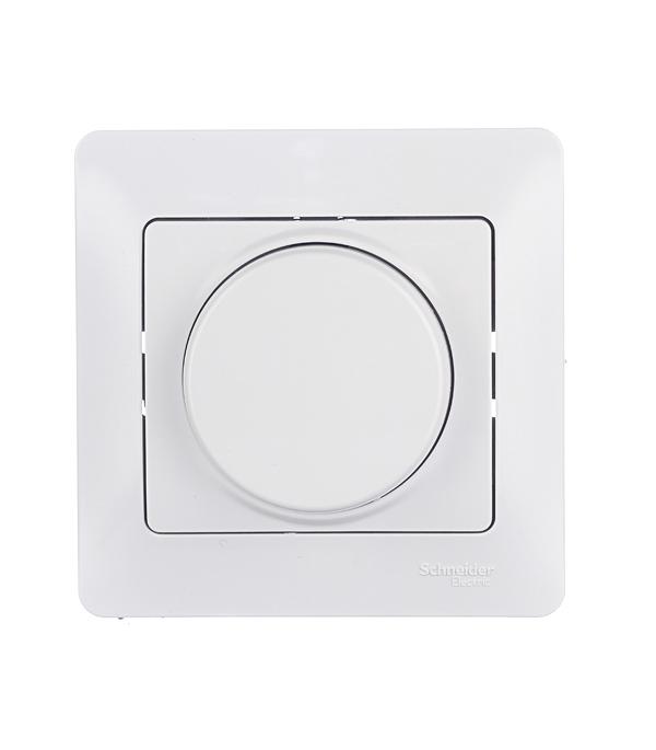 Диммер с/у поворотный, 300Вт  Schneider Electric Glossa белый  диммер universal бриллиант белый 7947427