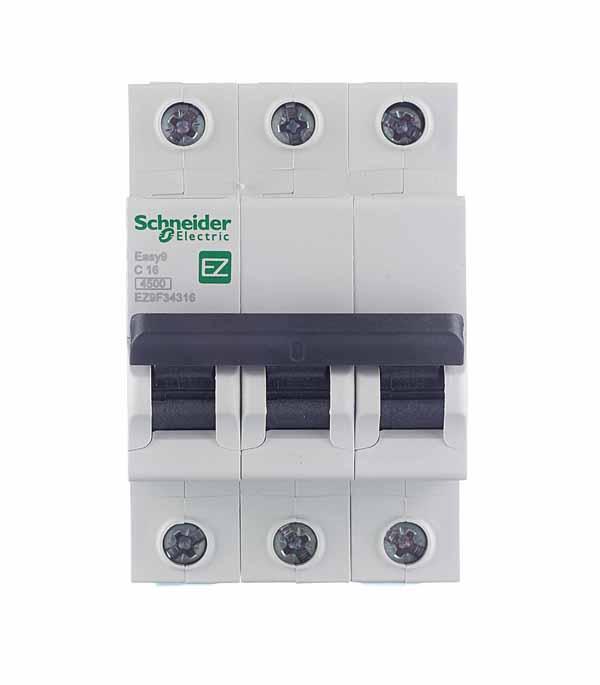 Автомат 3P, 16А, тип С, 4,5кА, Schneider Electric, Easy9