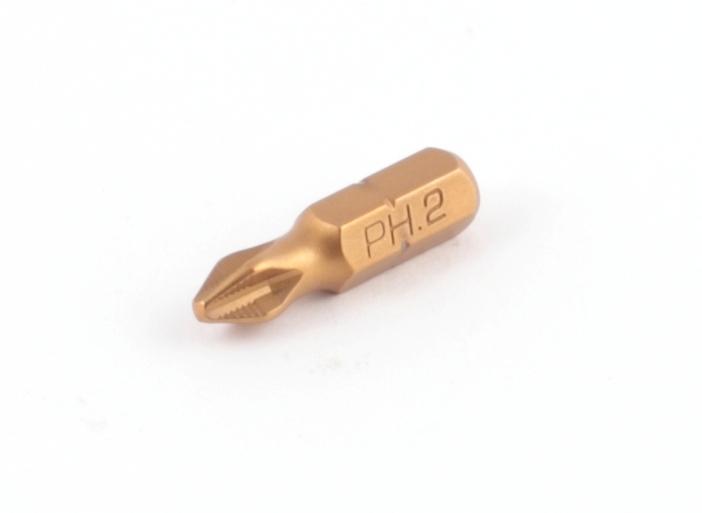 Бита PH2  25 мм, 2 шт с титановым покрытием Jettools Профи