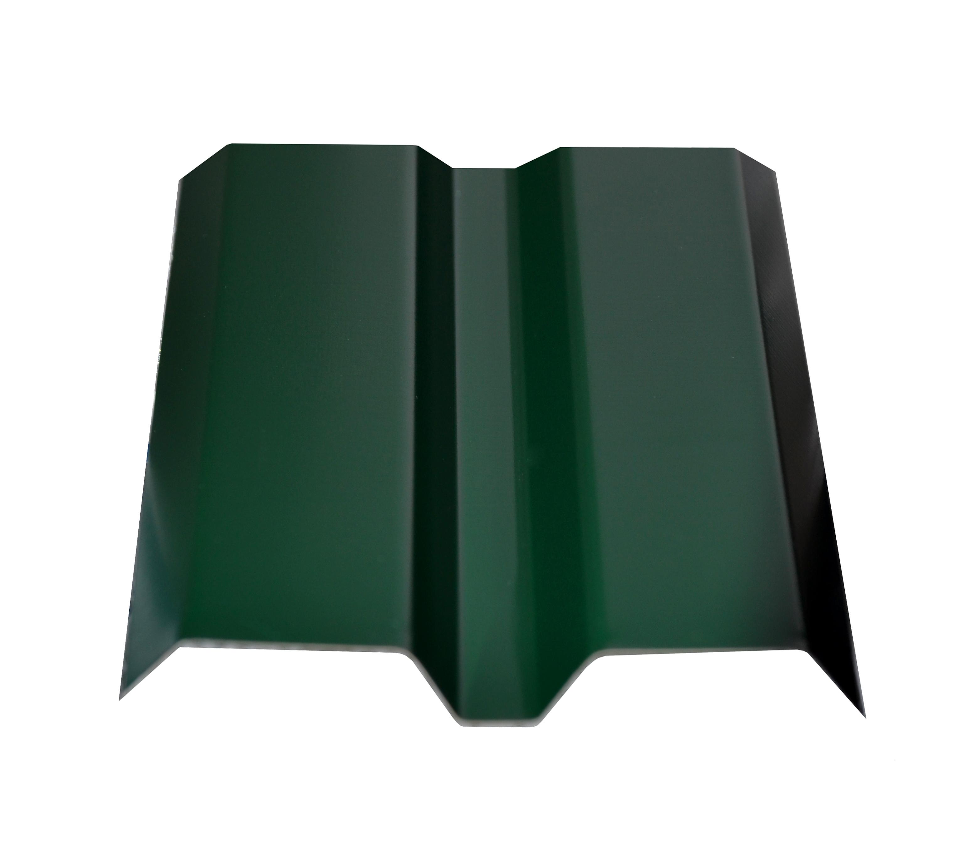 Евроштакетник  87х1500мм, толщина 0,4 мм зеленый