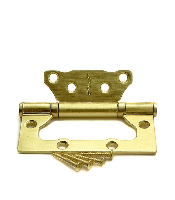 Петля универсальная накладная 100 мм SB матовое золото