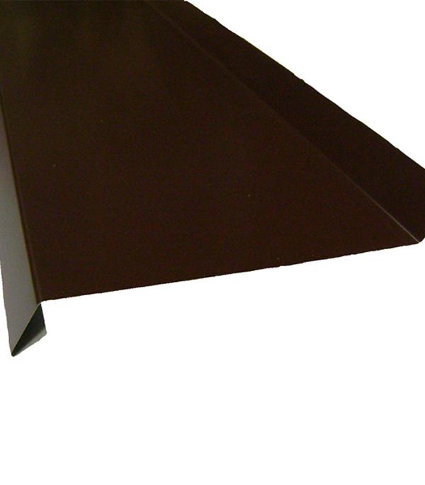 Отлив коричневый 145х2000 мм RAL8017