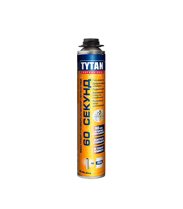 Клей универсальный Tytan Professional 60 секунд 750 мл пена монтажная tytan lexy 60 750мл