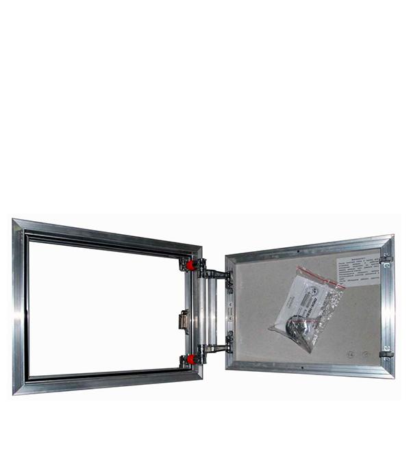 Люк ревизионный 500х400 мм под плитку алюминиевый EuroFORMAT-R Практика