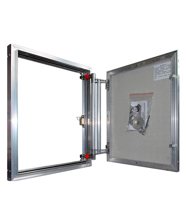 Люк ревизионный 500х600 мм под плитку алюминиевый EuroFORMAT-R Практика