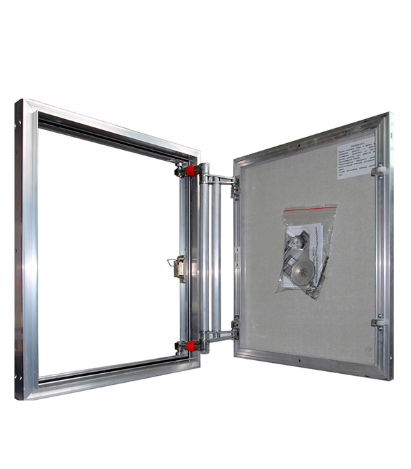 Люк ревизионный 500х800 мм под плитку алюминиевый EuroFORMAT-R Практика