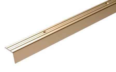 Порог Д3 для кромок ступеней 24х20х1800 мм бронза