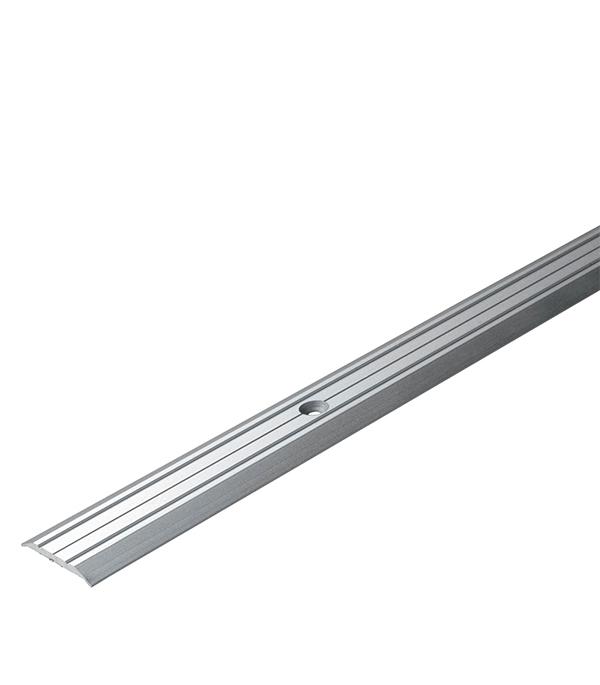 Порог А1 стыкоперекрывающий 25х1800 мм серебро