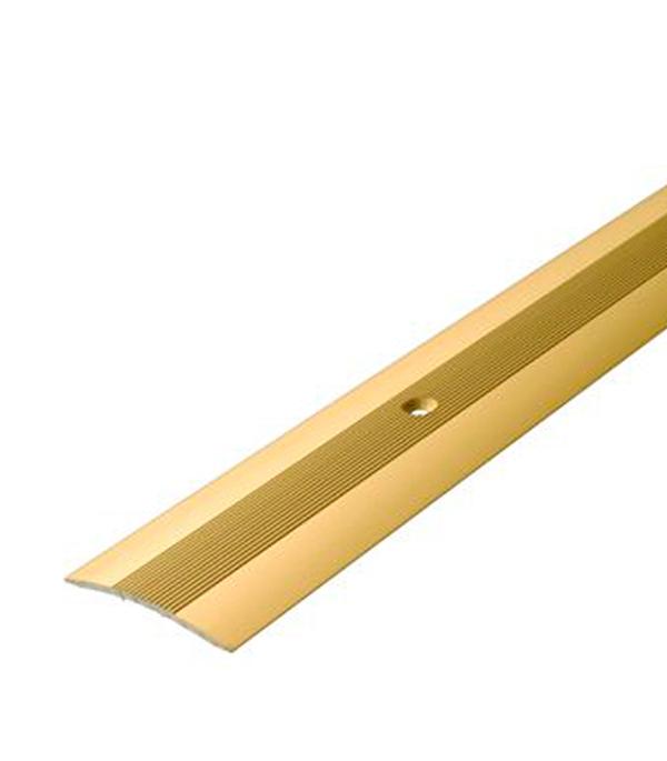 Порог А5 стыкоперекрывающий 38х1800 мм золото